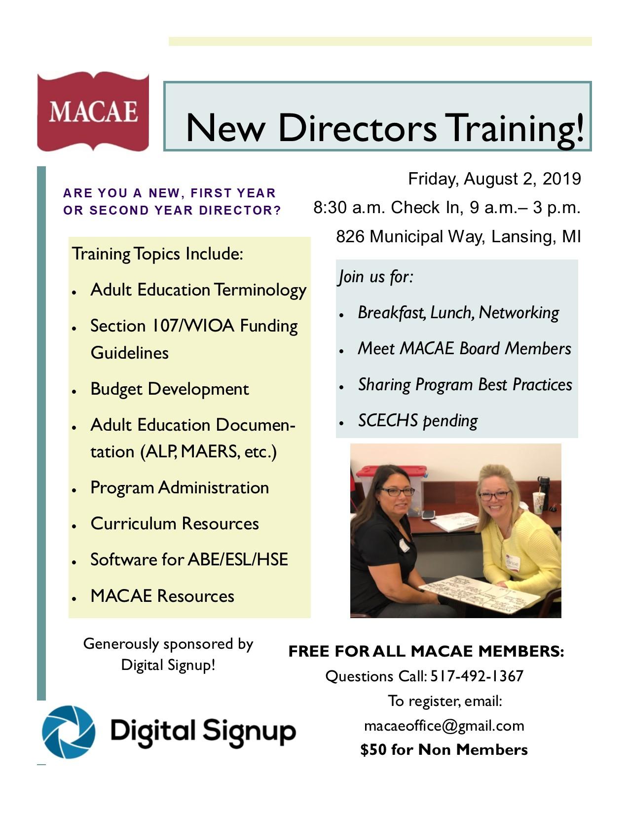 New Directors Training