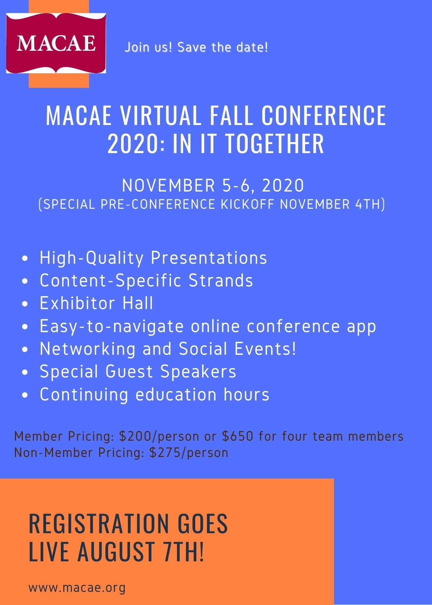 MACAE Virtual Fall Conference 2020: In It Together